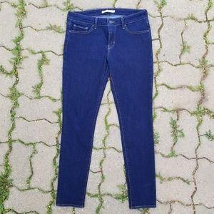 2/$55 - Levi's 711 Skinny Jeans dark blue wash 29
